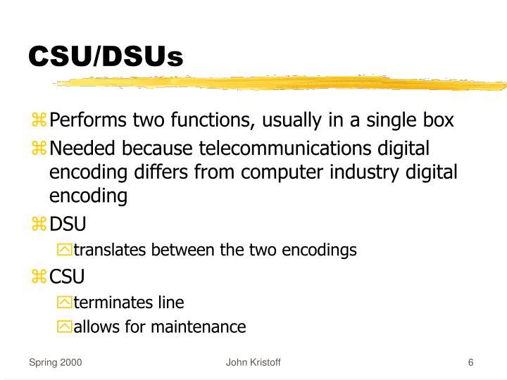 CSU/DSUs