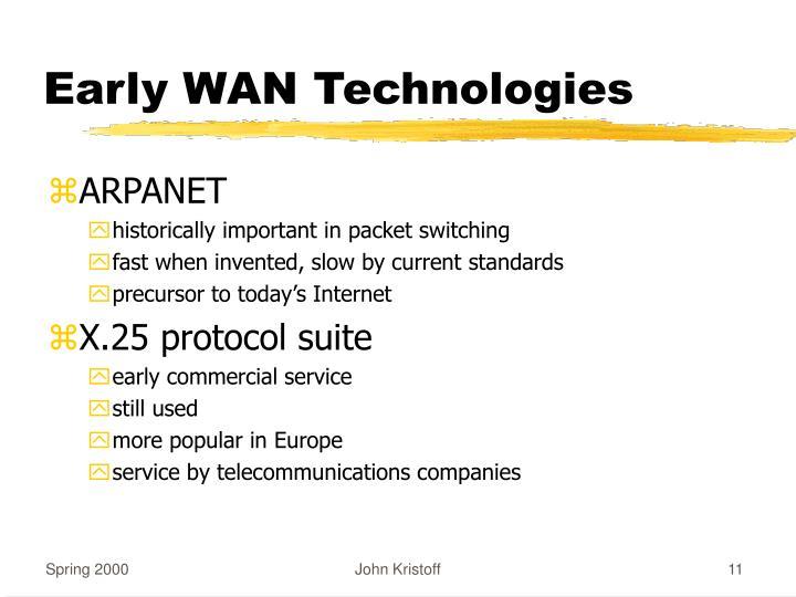 Early WAN Technologies