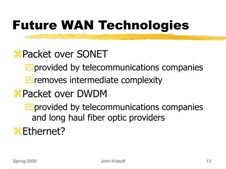 Future WAN Technologies