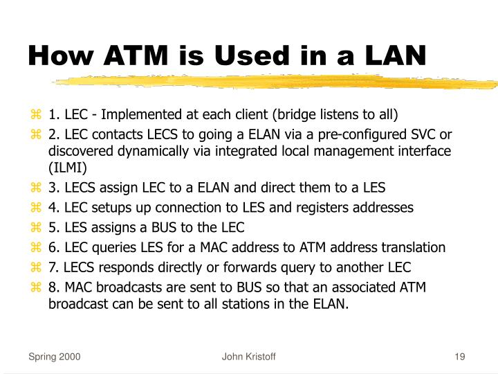How ATM is Used in a LAN