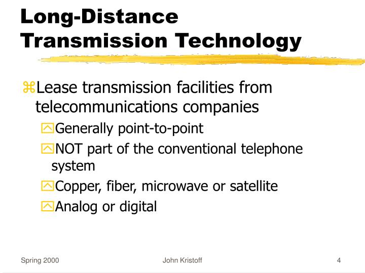 Long-Distance Transmission Technology