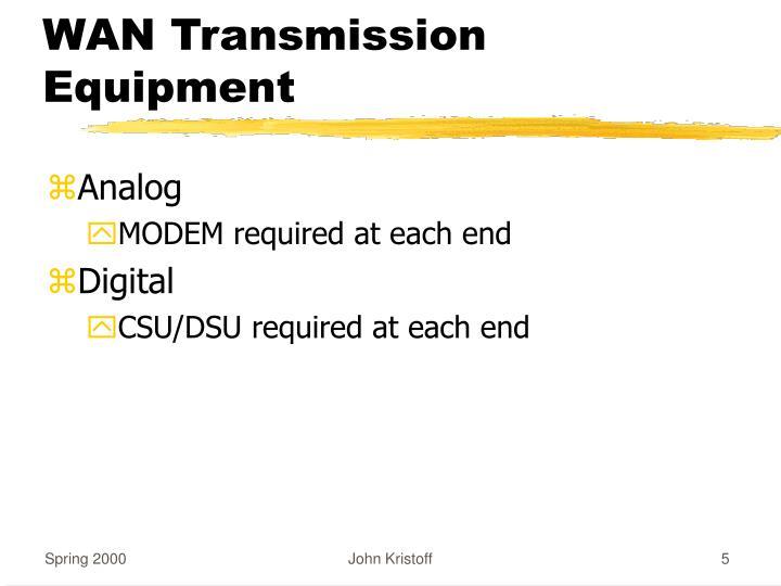 WAN Transmission Equipment