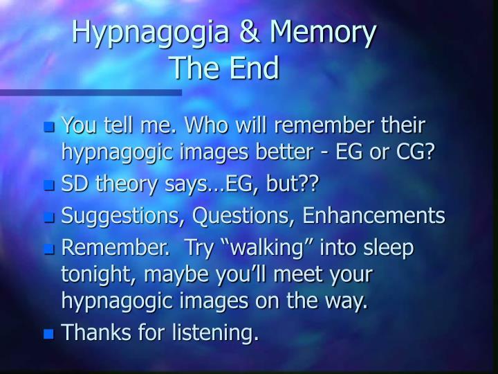 Hypnagogia & Memory