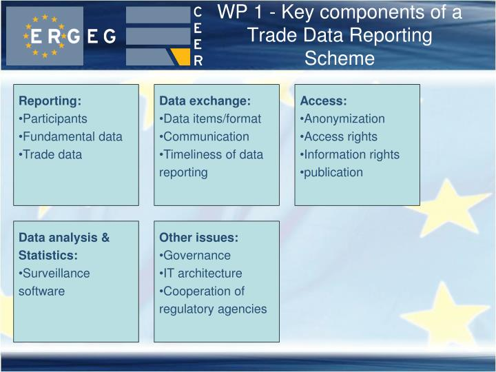 WP 1 - Key components of a Trade Data Reporting Scheme