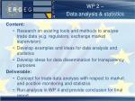 wp 2 data analysis statistics