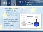wp 3 it application for pilot project