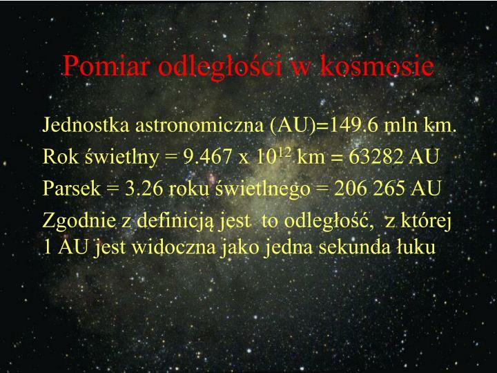 Pomiar odległości w kosmosie