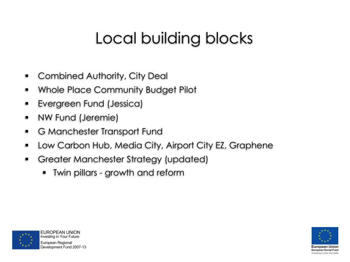 Local building blocks