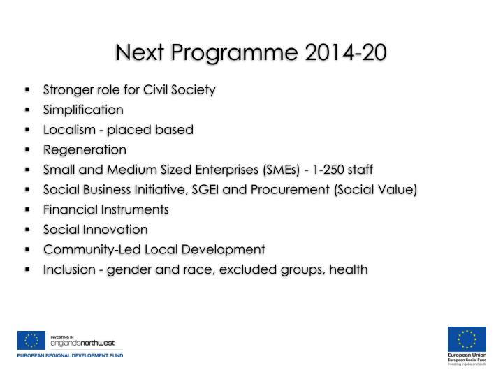 Next Programme 2014-20