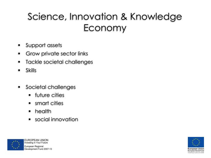 Science, Innovation & Knowledge Economy