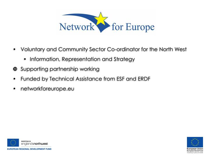 Voluntary and Community Sector Co-ordinator for the North West