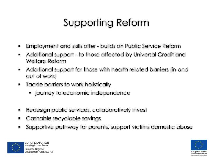 Supporting Reform