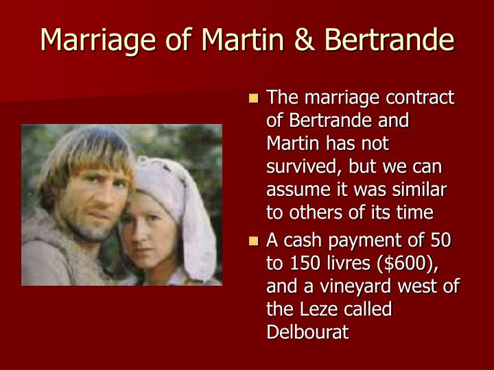 Marriage of Martin & Bertrande