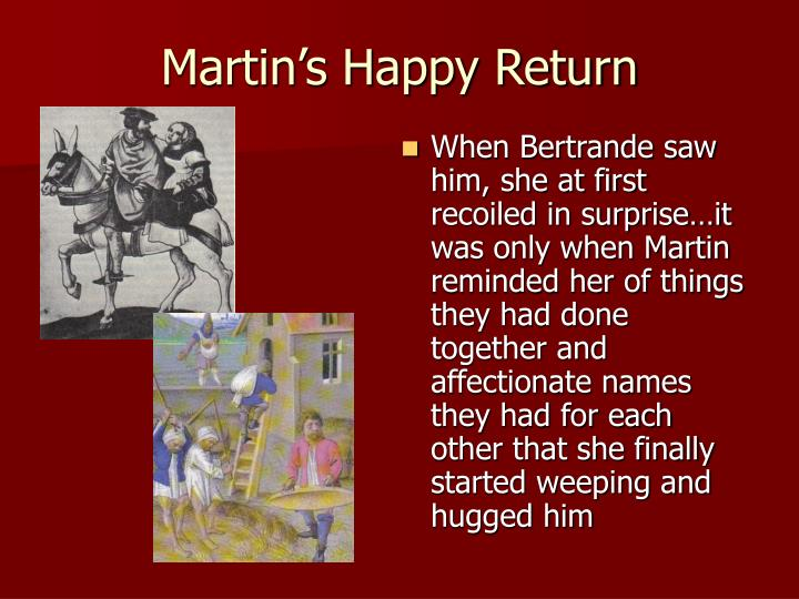 Martin's Happy Return