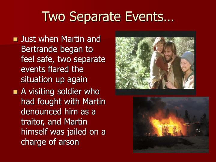 Two Separate Events…