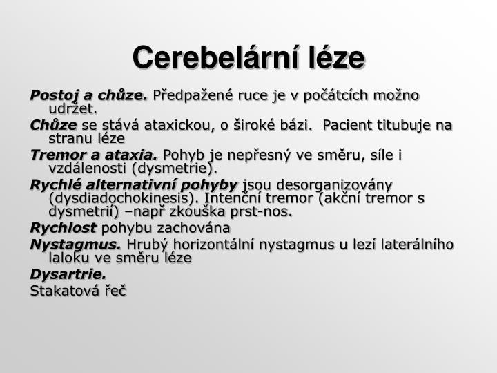 Cerebelární léze