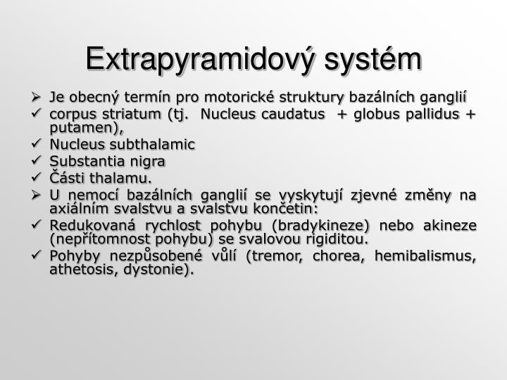Extrapyramidový systém