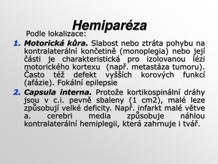 Hemiparéza
