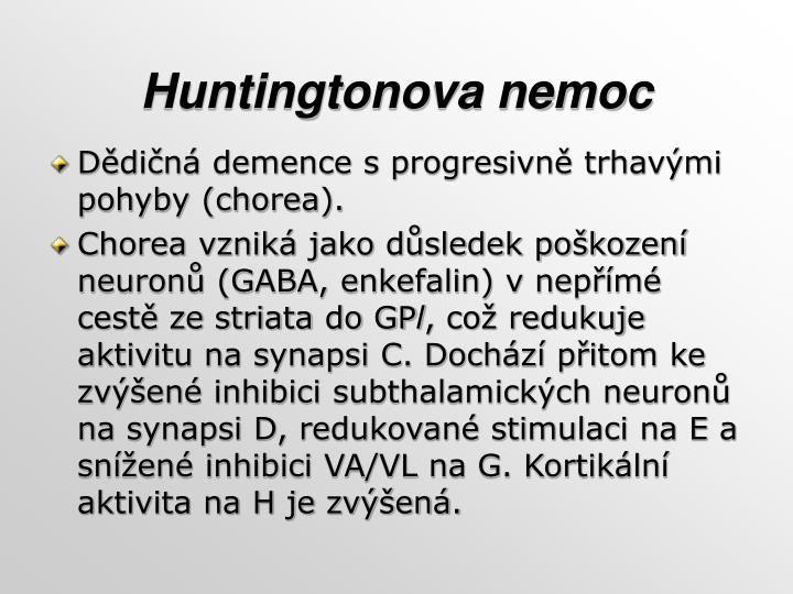 Huntingtonova nemoc