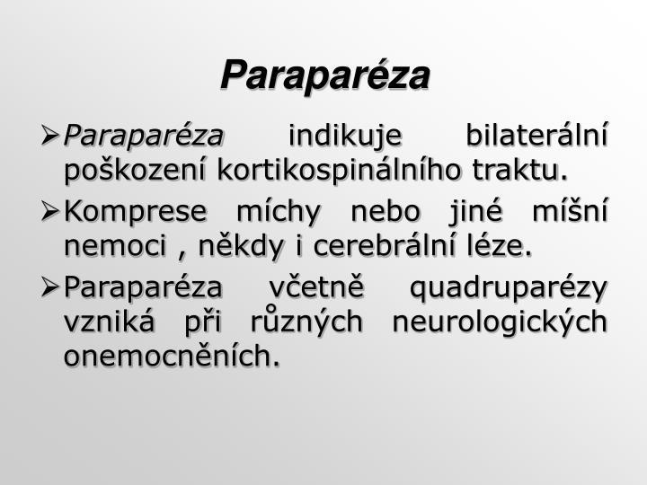 Paraparéza