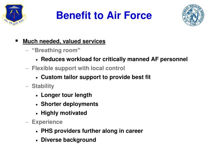 Benefit to Air Force