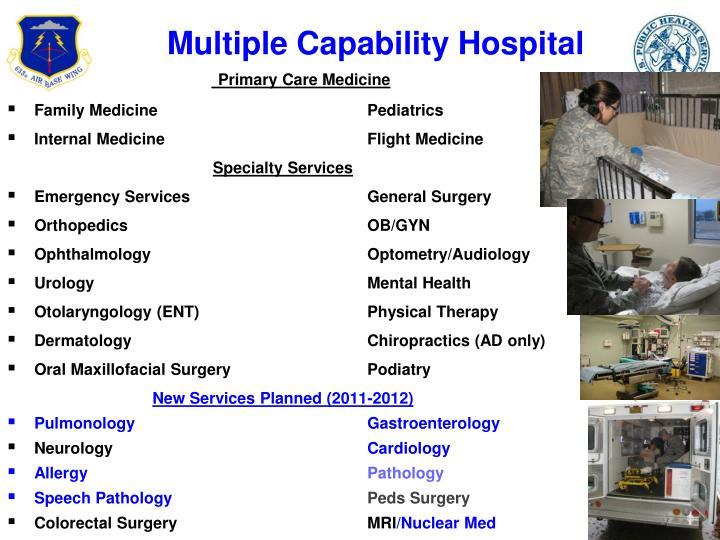 Multiple Capability Hospital