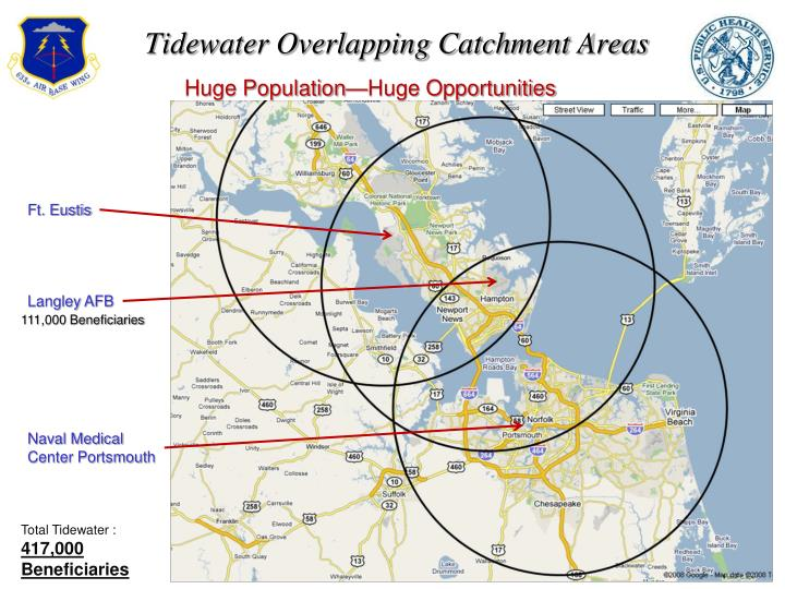 Tidewater Overlapping Catchment Areas
