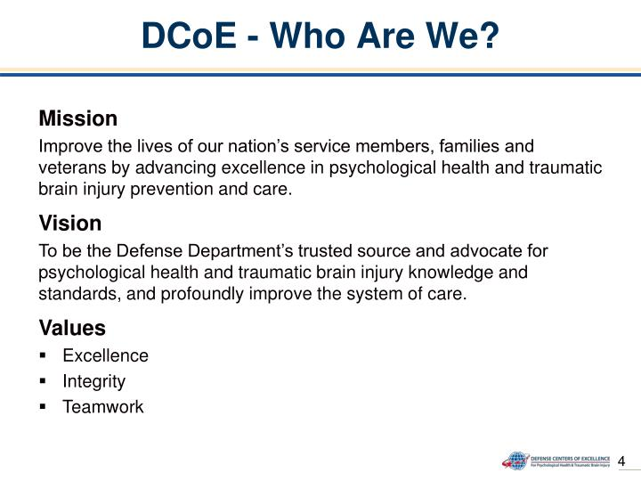 DCoE - Who Are We?
