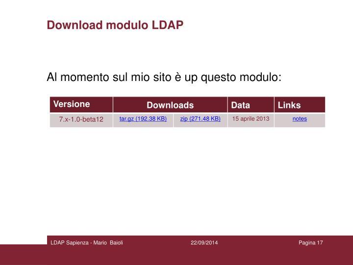 Download modulo LDAP
