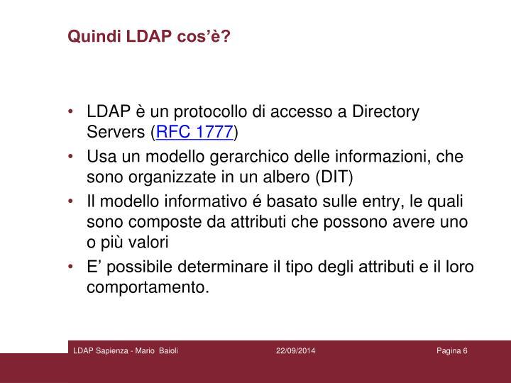 Quindi LDAP cos'è?