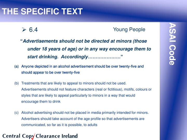 (a)Anyone depicted in an alcohol advertisement should be over twenty-five and should appear to be over twenty-five