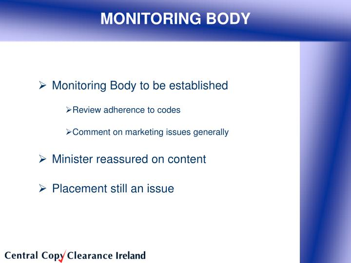 MONITORING BODY