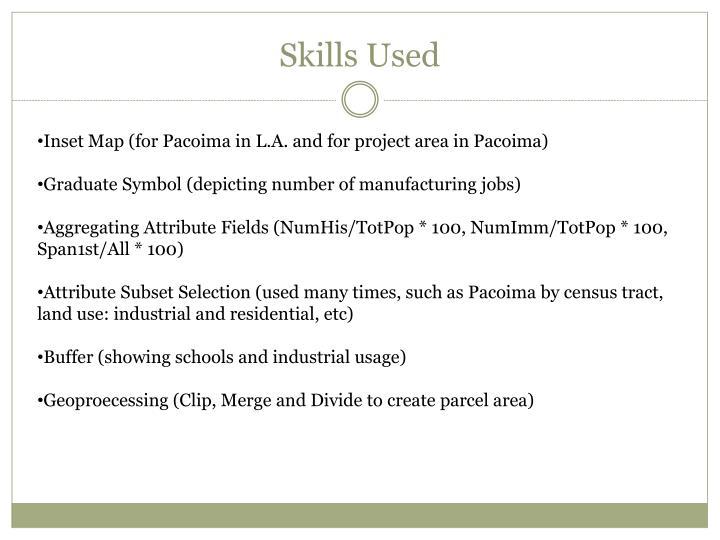 Skills Used