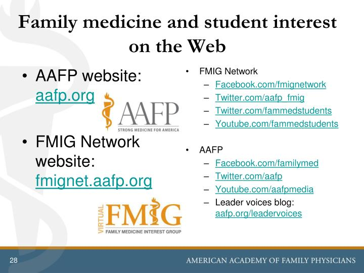 Family medicine and student interest on the Web
