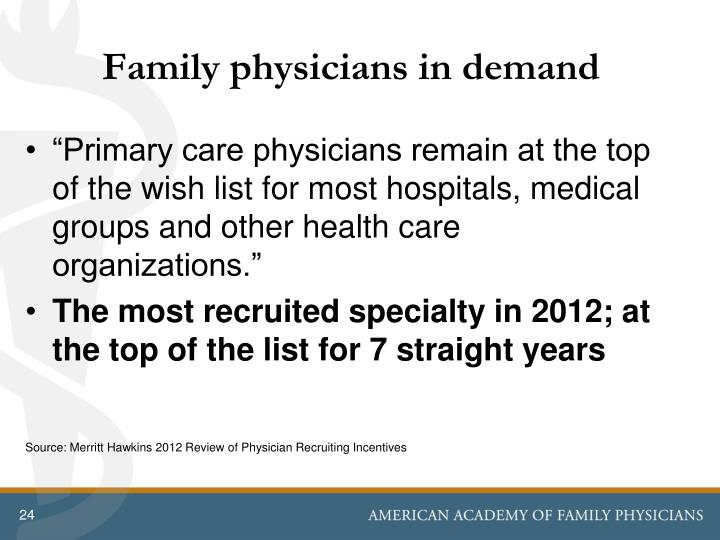 Family physicians in demand