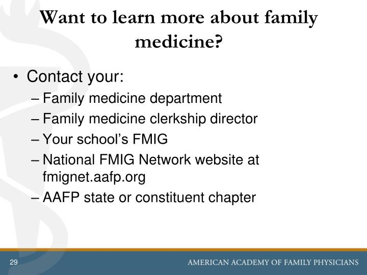 Want to learn more about family medicine?