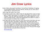 jim crow lyrics