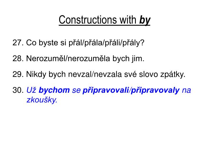 Constructions with