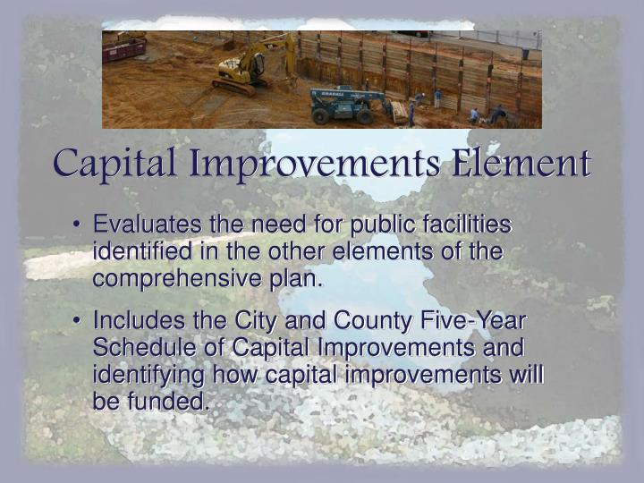 Capital Improvements Element