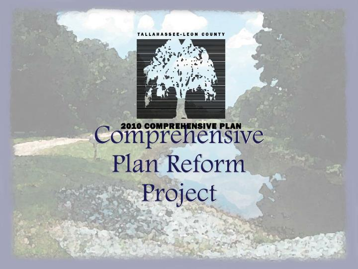 Comprehensive Plan Reform Project