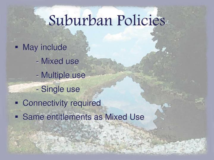 Suburban Policies