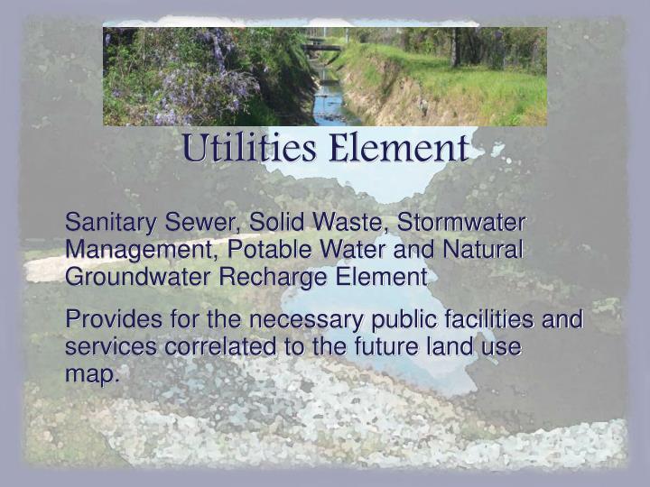 Utilities Element