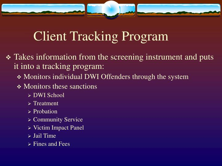 Client Tracking Program