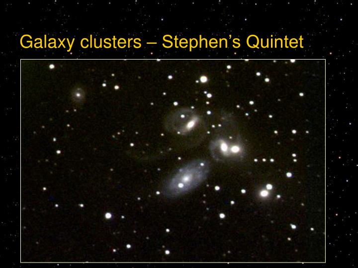 Galaxy clusters – Stephen's Quintet