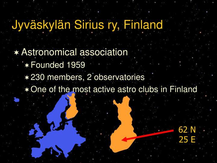 Jyväskylän Sirius ry, Finland