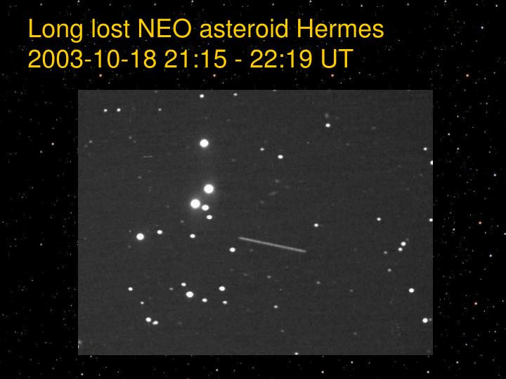 Long lost NEO asteroid Hermes