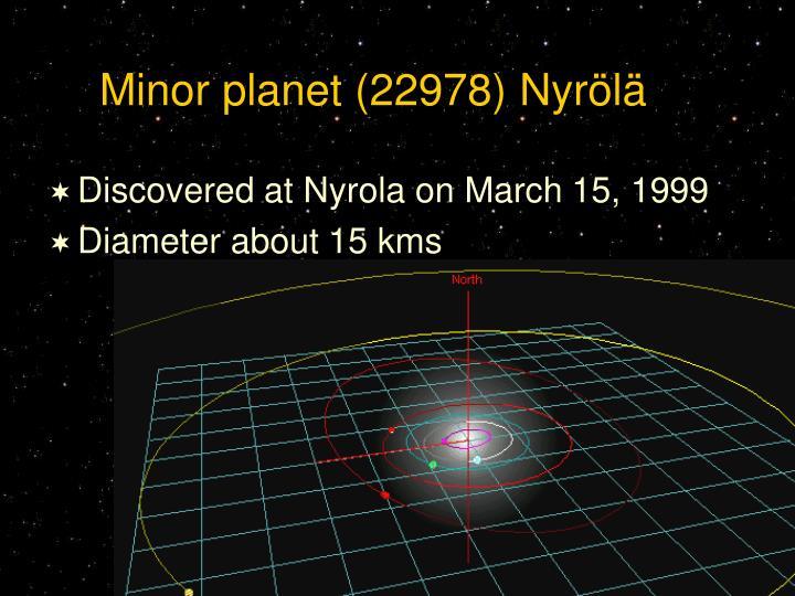 Minor planet (22978) Nyrölä