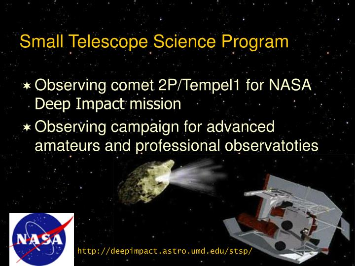 Small Telescope Science Program