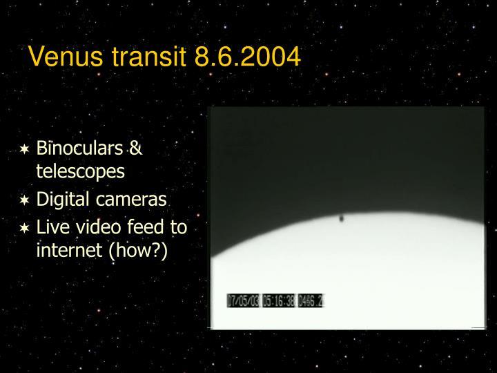 Venus transit 8.6.2004