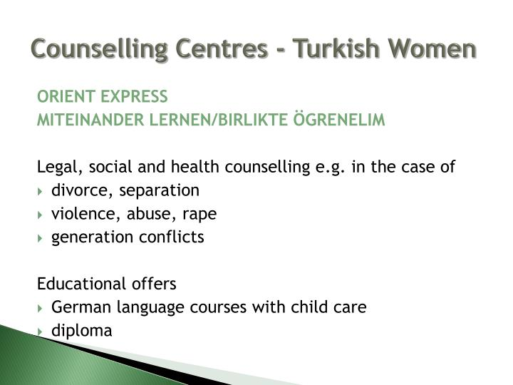 Counselling Centres -